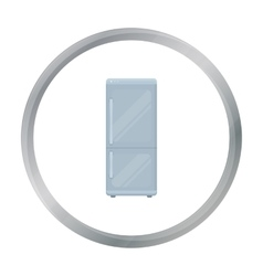 Refrigerator icon in cartoon style isolated on vector