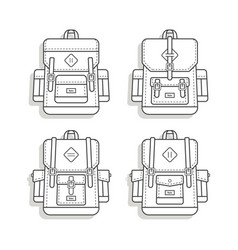 rerto vintage backpack icon vector image