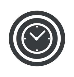 Round black clock sign vector