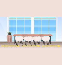 round table meeting room with signs for social vector image