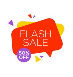 sale banner design template flat speech bubble vector image
