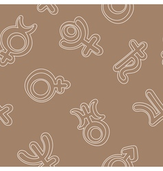 seamless background with the astronomical symbols vector image