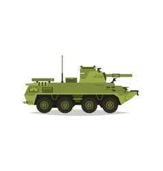 Self-propelled artillery unit research vector