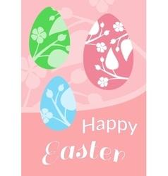 Set of Brochure Flyer Layout Easter vector image