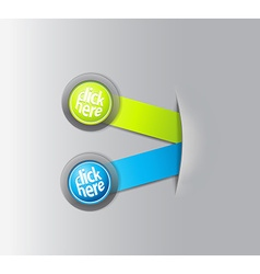 Set of two horizontal labels hiding in paper vector