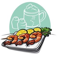 Shrimp grilled vector image