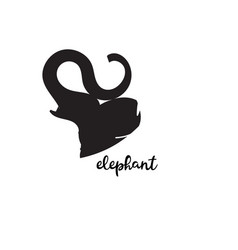Simple modern elephant logo elegant and stylish vector