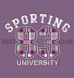 sport tshirt graphics vector image