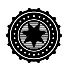 Star emblem icon image vector