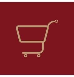 The shopping cart icon Shopping cart Flat vector