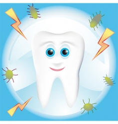 tooth decay vector image