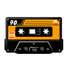 vintage colorful audio cassette concept vector image