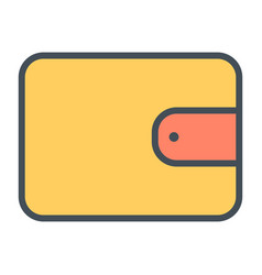wallet line icon 48x48 simple minimal pictogram vector image