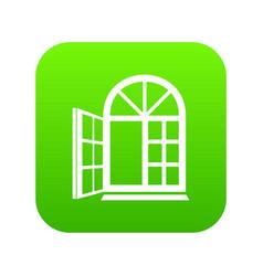 Window frame icon green vector