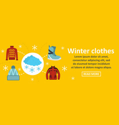 winter clothes banner horizontal concept vector image