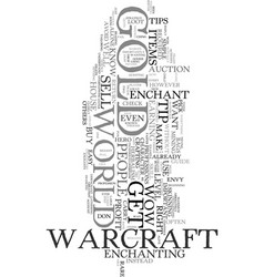 wow gold dont ever buy wow gold again text word vector image