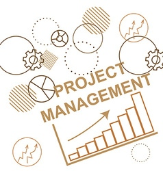 Background to the project management business vector image
