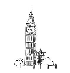 Big ben in london vector