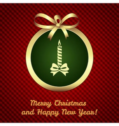 Christmas and New Year card background vector image