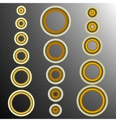 set of 16 Golden rings EPS 10 vector image vector image