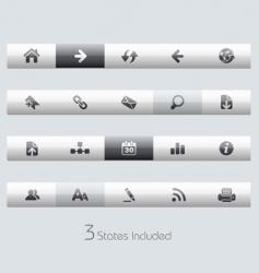 web navigation bars vector image vector image