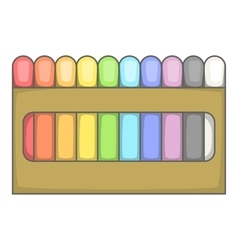 Colored pastel crayon set icon cartoon style vector image vector image