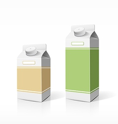 Colorful milk box packaging template vector image vector image