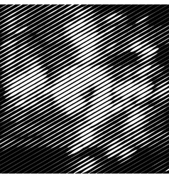 Grunge halftone striped texture background vector image vector image