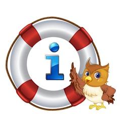 Owl Information Kiosk Sign vector image