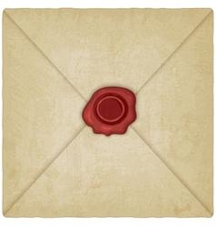 vintage envelope with wax seal vector image