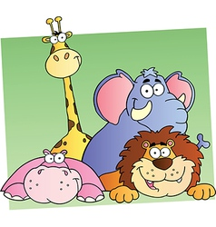 Cartoon Jungle Animals vector image vector image