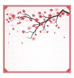 Cherry blossom template vector