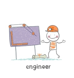 engineer sketched on a blackboard vector image vector image