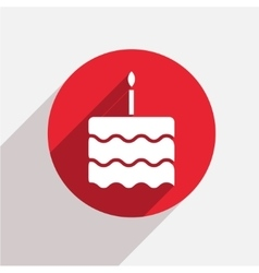 modern cake red circle icon vector image