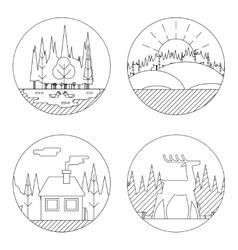 Nature Landscapes Logo Outdoor Life Symbol Lake vector image vector image