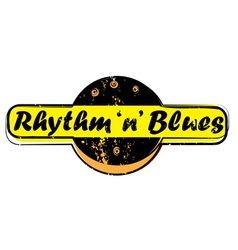 rhythm and blues stamp vector image vector image