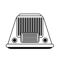 vintage radio icon image vector image