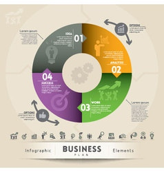 Business Plan Concept Graphic Element vector image vector image