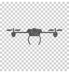 Drone Grainy Texture Icon vector image vector image