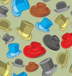 hats pattern vector image vector image