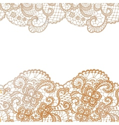 Lacy elegant border Invitation card vector image