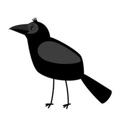 raven cartoon bird icon vector image vector image