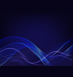 Abstract business background with blue dots wave vector