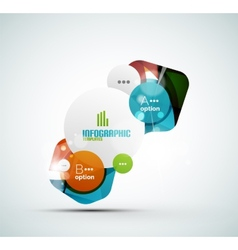 Abstract step infographics business layout vector image