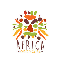 African ethnic tribal logo vector