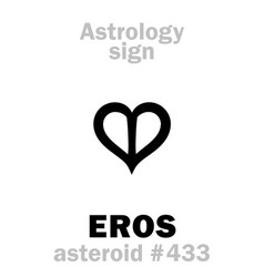 astrology asteroid eros vector image