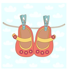 Baby girl shoes vector image