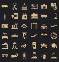 Barcode icons set simple style vector
