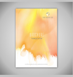business brochure design with watercolour texture vector image