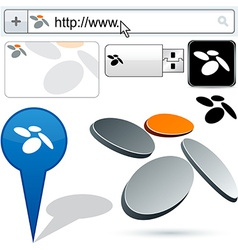 Business fan abstract logo design vector